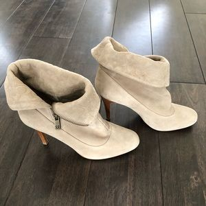 Coach Ankle Boots\Booties, Taupe, Suede, Size 9B